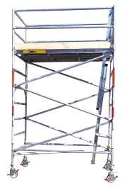 1.3m Wide Aluminium Mobile Scaffold Tower